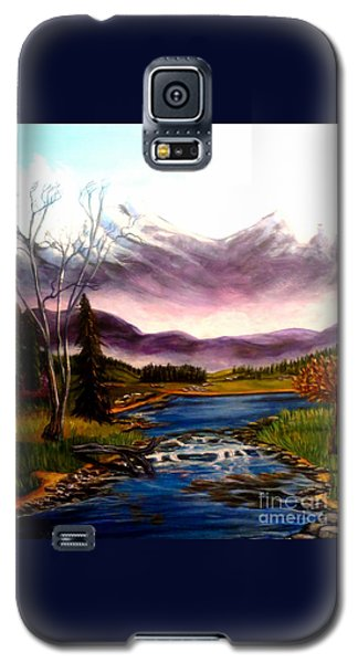 Crystal Lake With Snow Capped Mountains Galaxy S5 Case by Kimberlee Baxter