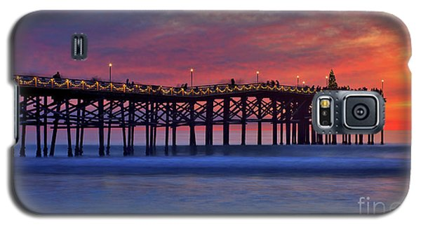 Crystal Pier In Pacific Beach Decorated With Christmas Lights Galaxy S5 Case