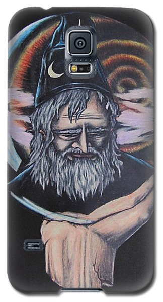Galaxy S5 Case featuring the drawing Crystal Wizard by Michael  TMAD Finney