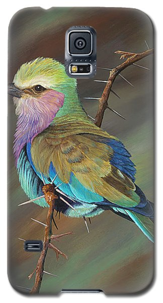 Galaxy S5 Case featuring the painting Crystal's Bird by AnnaJo Vahle