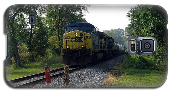 Csx 425 Coming Down The Tracks Galaxy S5 Case by George Jones