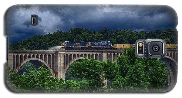 Csx Train Trestle Galaxy S5 Case by Melissa Messick