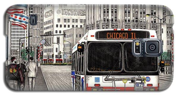 Cta Bus On Michigan Avenue Galaxy S5 Case