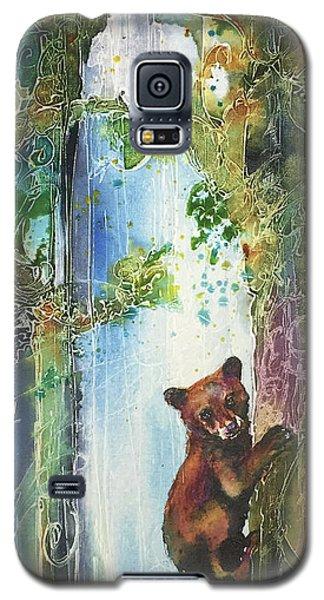 Cub Bear Climbing Galaxy S5 Case