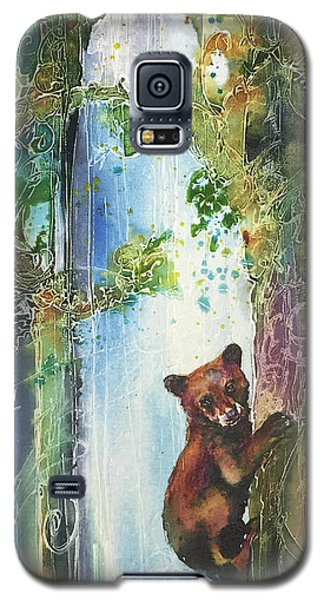 Galaxy S5 Case featuring the painting Cub Bear Climbing by Christy Freeman