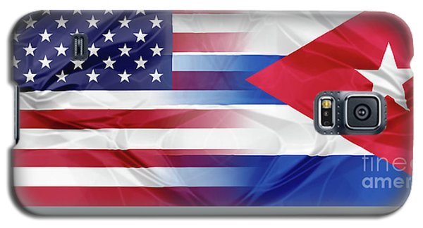 Cuba And Usa Flags Galaxy S5 Case