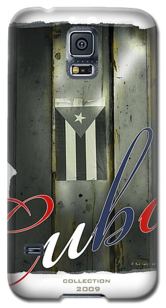 Cuban Flag On Door Galaxy S5 Case by Bob Salo