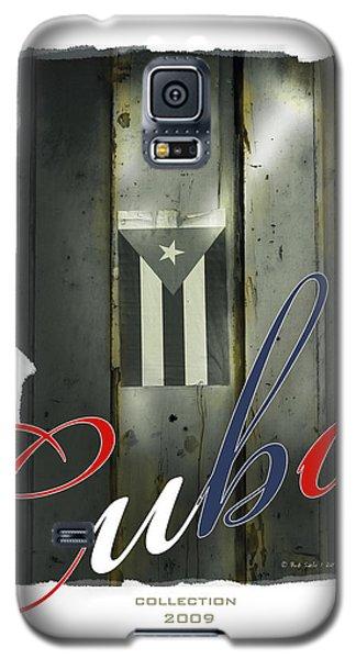 Cuban Flag On Door Galaxy S5 Case