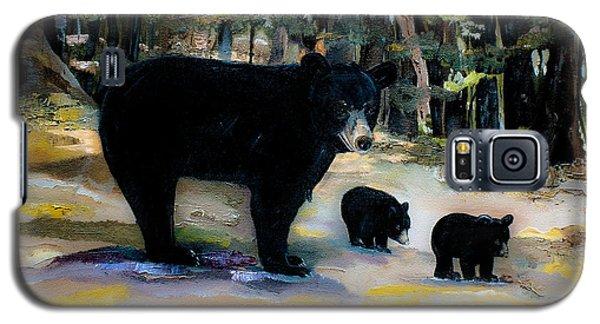 Cubs With Momma Bear - Dreamy Version - Black Bears Galaxy S5 Case by Jan Dappen