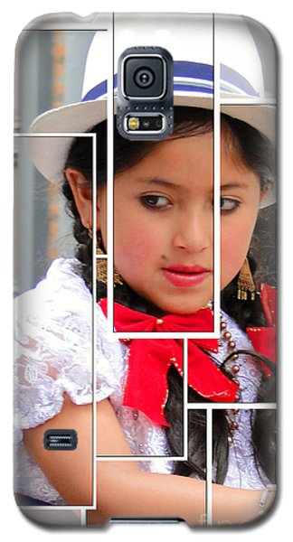 Galaxy S5 Case featuring the photograph Cuenca Kids 890 by Al Bourassa