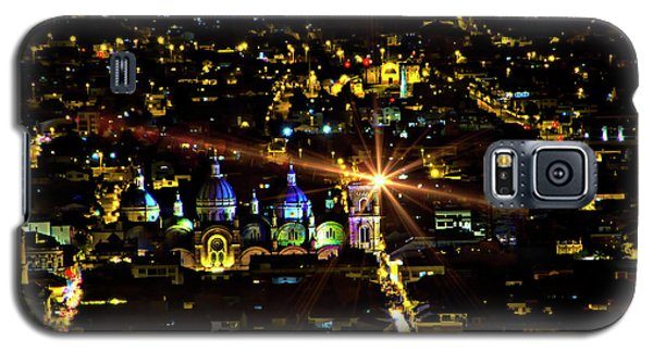 Galaxy S5 Case featuring the photograph Cuenca's Historic District At Night by Al Bourassa