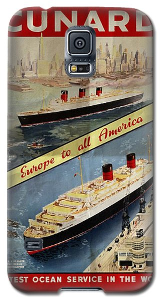 Cunard - Europe To All America - Vintage Poster Folded Galaxy S5 Case