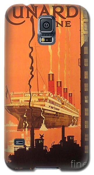Cunard Ocean Liner Poster Galaxy S5 Case