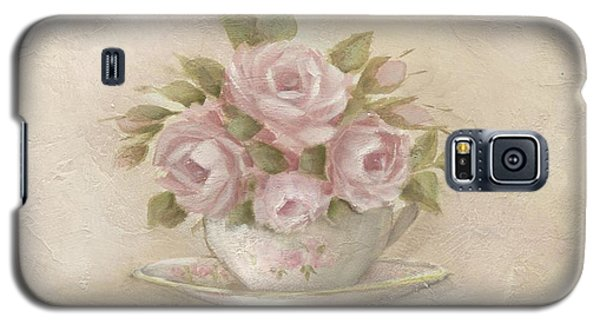 Cup And Saucer  Pink Roses Galaxy S5 Case by Chris Hobel