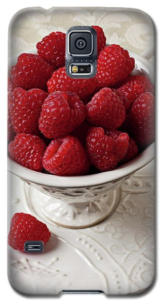 Cup Full Of Raspberries  Galaxy S5 Case by Garry Gay