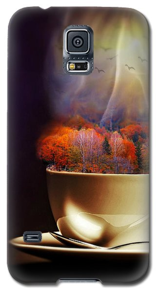 Cup Of Autumn Galaxy S5 Case by Lilia D