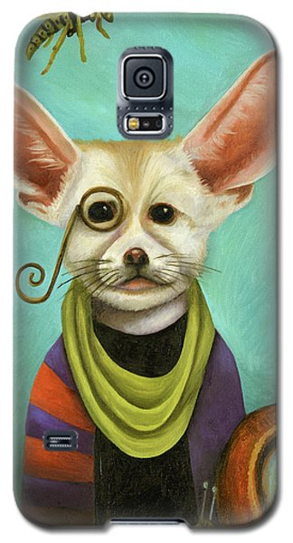 Galaxy S5 Case featuring the painting Curious As A Fox by Leah Saulnier The Painting Maniac