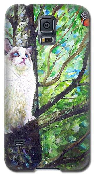 Curious Cat Galaxy S5 Case