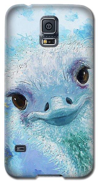 Curious Ostrich Galaxy S5 Case by Jan Matson