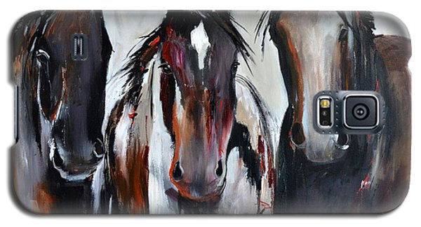 Curious Three Galaxy S5 Case by Cher Devereaux