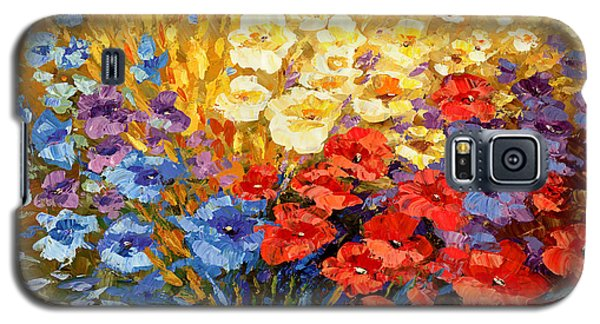 Galaxy S5 Case featuring the painting Curiously Creative by Tatiana Iliina