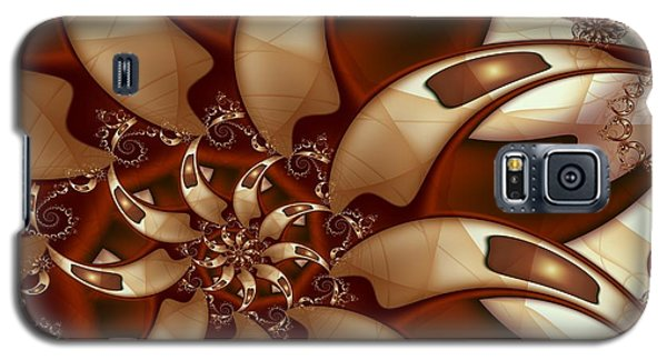 Galaxy S5 Case featuring the digital art Curl Around by Michelle H