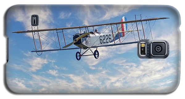 Curtiss Jn-4h Biplane Galaxy S5 Case by Jerry Fornarotto