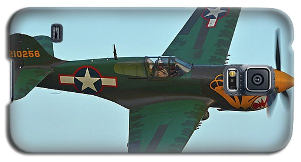 Galaxy S5 Case featuring the photograph Curtiss P-40k Warhawk N401wh Chino California April 29 2016 by Brian Lockett