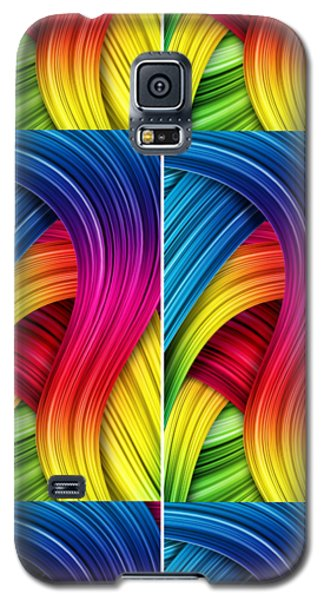 Curved Abstract Galaxy S5 Case by Sheila Mcdonald