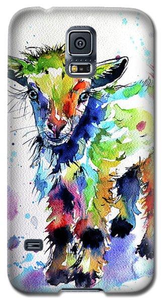 Cute Baby Goat Galaxy S5 Case by Kovacs Anna Brigitta
