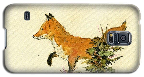 Cute Fox In The Forest Galaxy S5 Case by Juan  Bosco