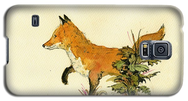Cute Fox In The Forest Galaxy S5 Case by Juan  Bosco