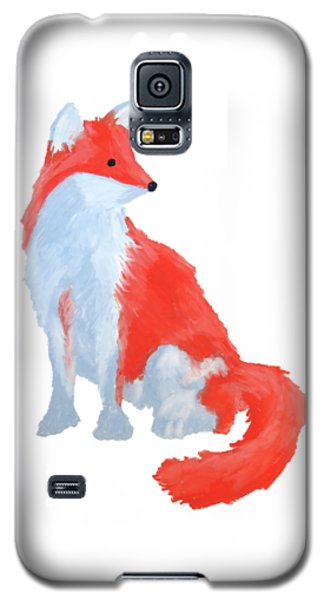 Cute Fox With Fluffy Tail Galaxy S5 Case