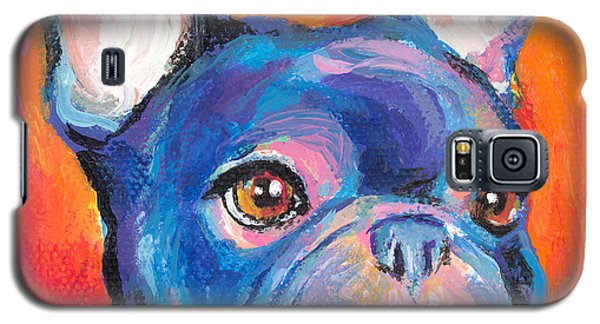 Cute French Bulldog Painting Prints Galaxy S5 Case