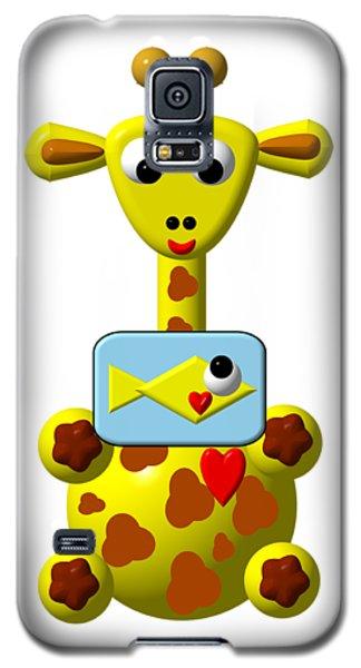 Cute Giraffe With Goldfish Galaxy S5 Case