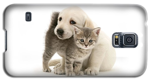 Cute Kitten And Perfect Puppy Galaxy S5 Case