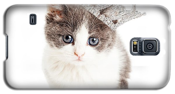 Cute Kitten Wearing Princess Crown Galaxy S5 Case