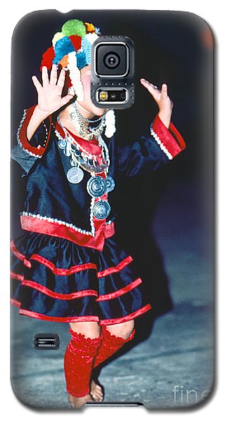 Galaxy S5 Case featuring the photograph Cute Little Thai Girl Dancing by Heiko Koehrer-Wagner