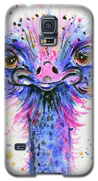 Cute Ostrich Galaxy S5 Case by Zaira Dzhaubaeva