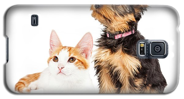 Cute Puppy And Kitten Sitting To Side  Galaxy S5 Case