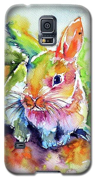 Cute Rabbit Galaxy S5 Case by Kovacs Anna Brigitta