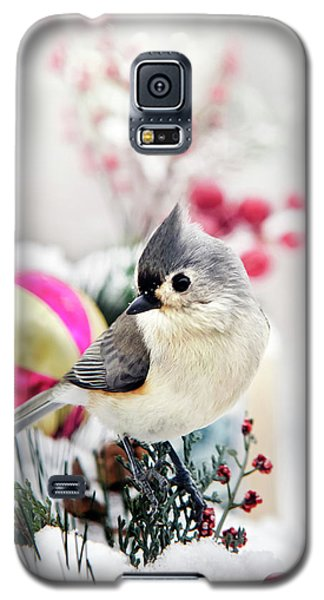 Cute Winter Bird - Tufted Titmouse Galaxy S5 Case by Christina Rollo
