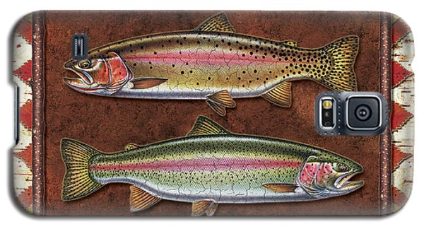 Trout Galaxy S5 Case - Cutthroat And Rainbow Trout Lodge by JQ Licensing