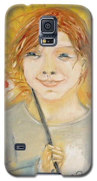Cuz I'm Happy Galaxy S5 Case by Evelina Popilian