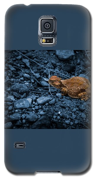 Galaxy S5 Case featuring the digital art Cyanotype Horned Toad by Bartz Johnson