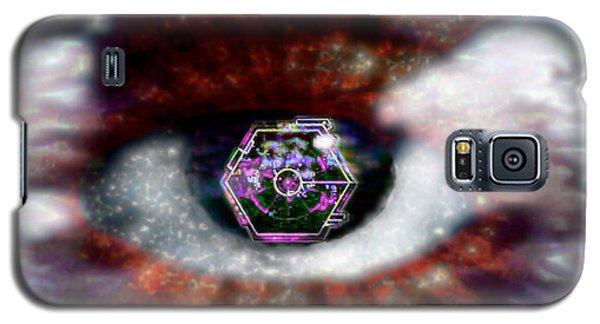 Galaxy S5 Case featuring the digital art Cyber Oculus Cumulus by Iowan Stone-Flowers