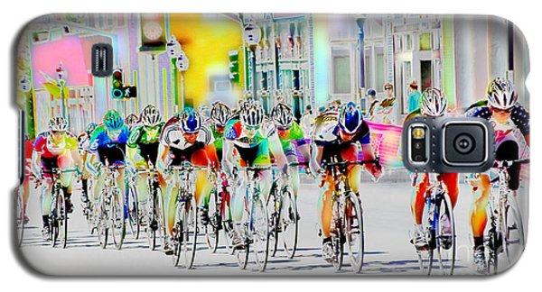 Cycling Down Main Street Usa Galaxy S5 Case by Vicki Pelham