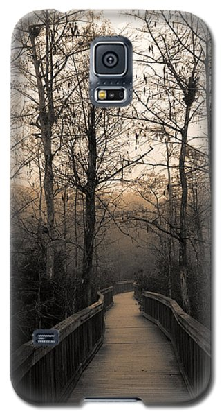 Galaxy S5 Case featuring the photograph Cypress Boardwalk by Gary Dean Mercer Clark