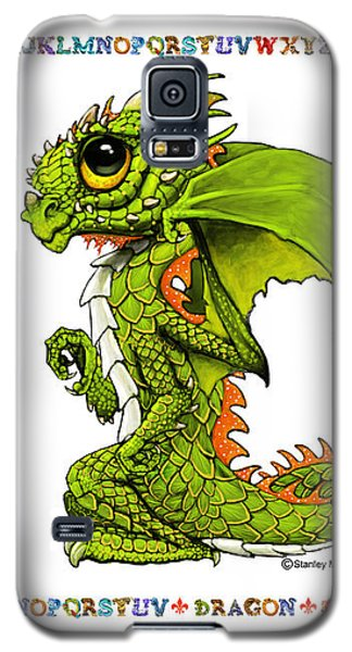 Galaxy S5 Case featuring the digital art D Is For Dragon by Stanley Morrison