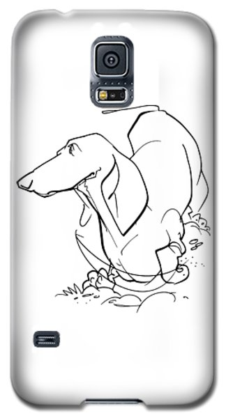 Dachshund Gesture Sketch Galaxy S5 Case
